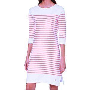 Armor Lux French White Pink Breton Stripe Dress